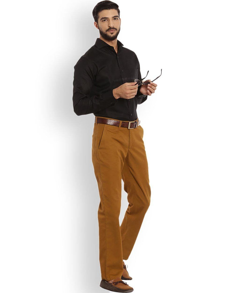 Raymond  Beige Slim Fit Trouser