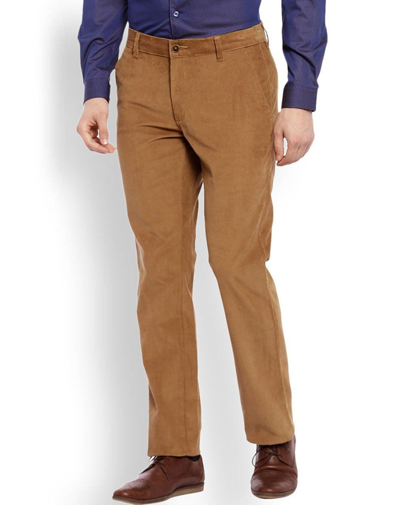 Raymond  Beige Casual Fit Trouser