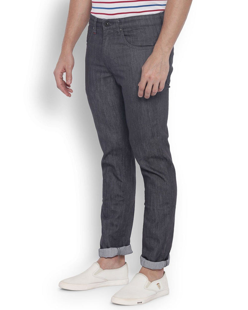 Raymond Men Cotton  Grey Contemporary Fit Jeans