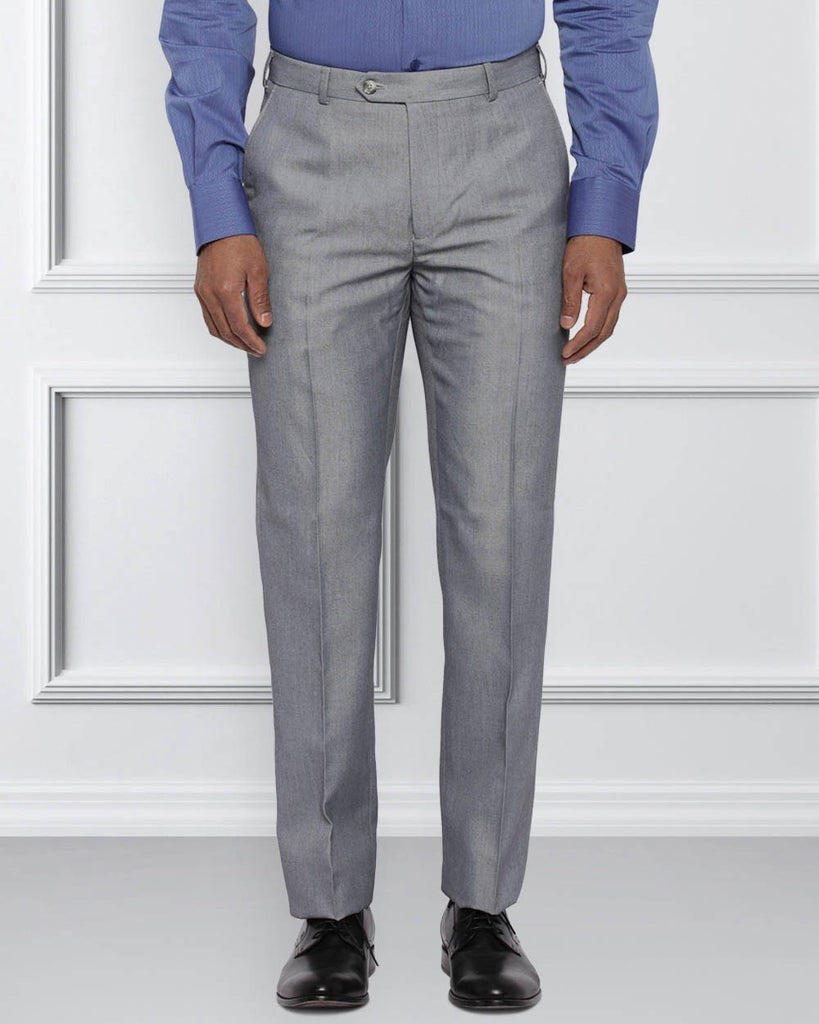 Raymond Light Grey Contemporary Fit Trouser