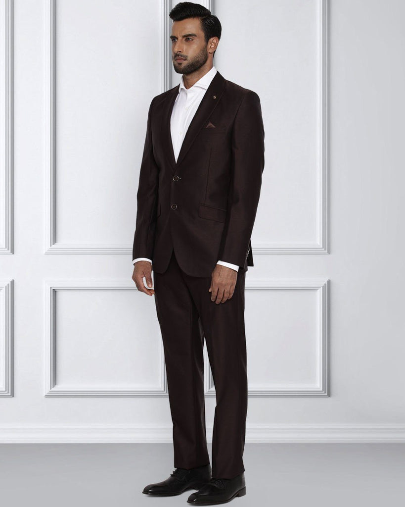 Raymond Dark Brown Contemporary Fit Suit