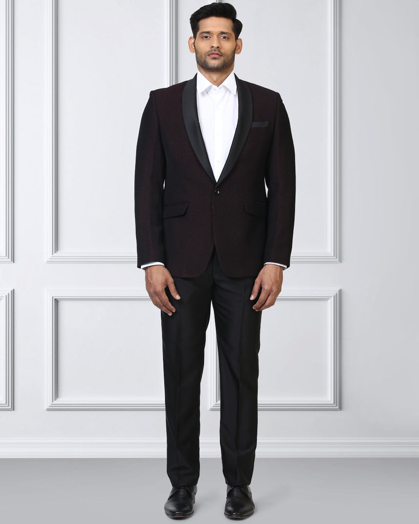 Raymond Dark Maroon Contemporary Fit Suit