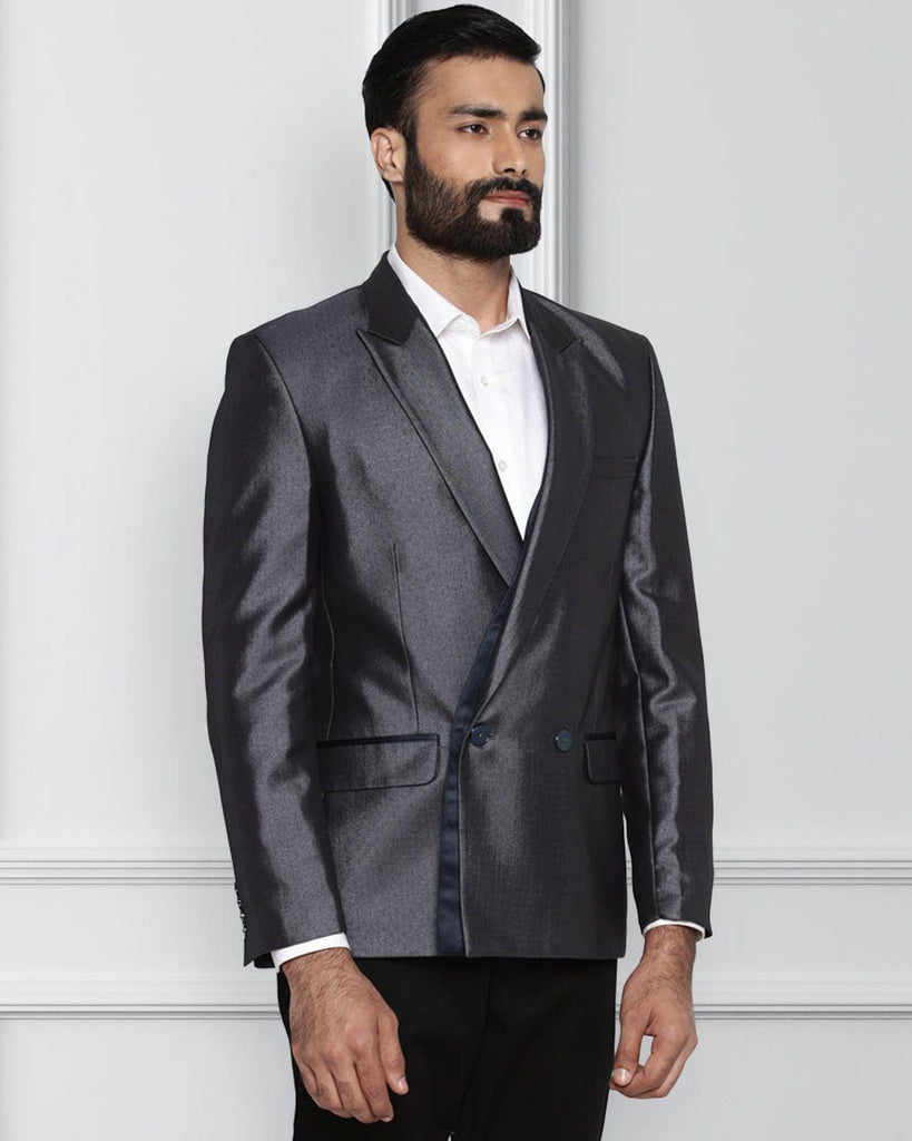 Raymond Fancy Blue Contemporary Fit Jacket