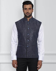 Raymond Dark Blue Contemporary Fit Jacket