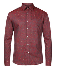 Raymond Dark Maroon Contemporary Fit Shirt