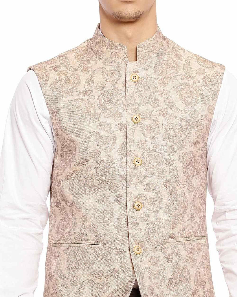 Raymond  Beige Contemporary Fit Jacket
