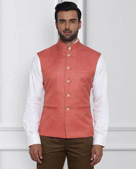 Raymond Medium Orange Contemporary Fit Waistcoat