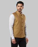 Raymond Medium Khaki Regular Fit WaistCoat