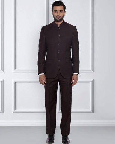 Raymond Dark Maroon Tailored Fit Suit