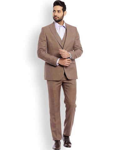 Raymond Beige Regular Fit Suit