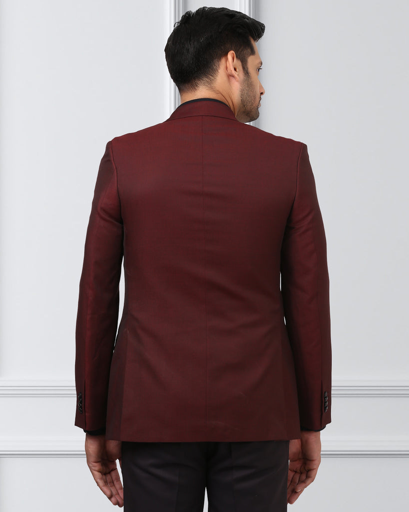 Raymond Dark Maroon Contemporary Fit Blazer
