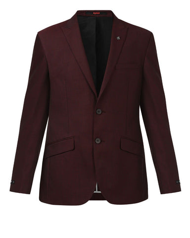 Raymond Maroon Contemporary Fit Jacket