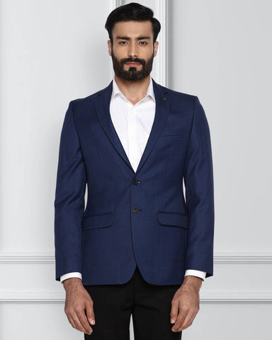 Raymond Dark Blue Slim Fit Jacket