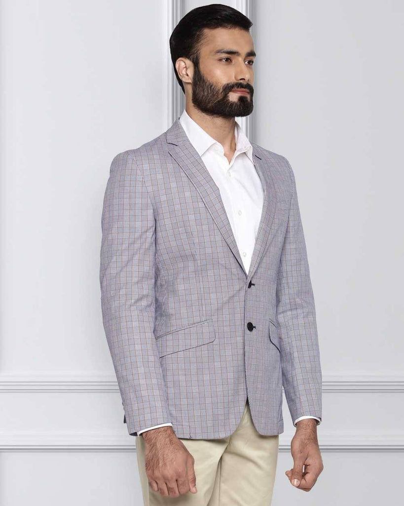 Raymond Purple Slim Fit Jacket