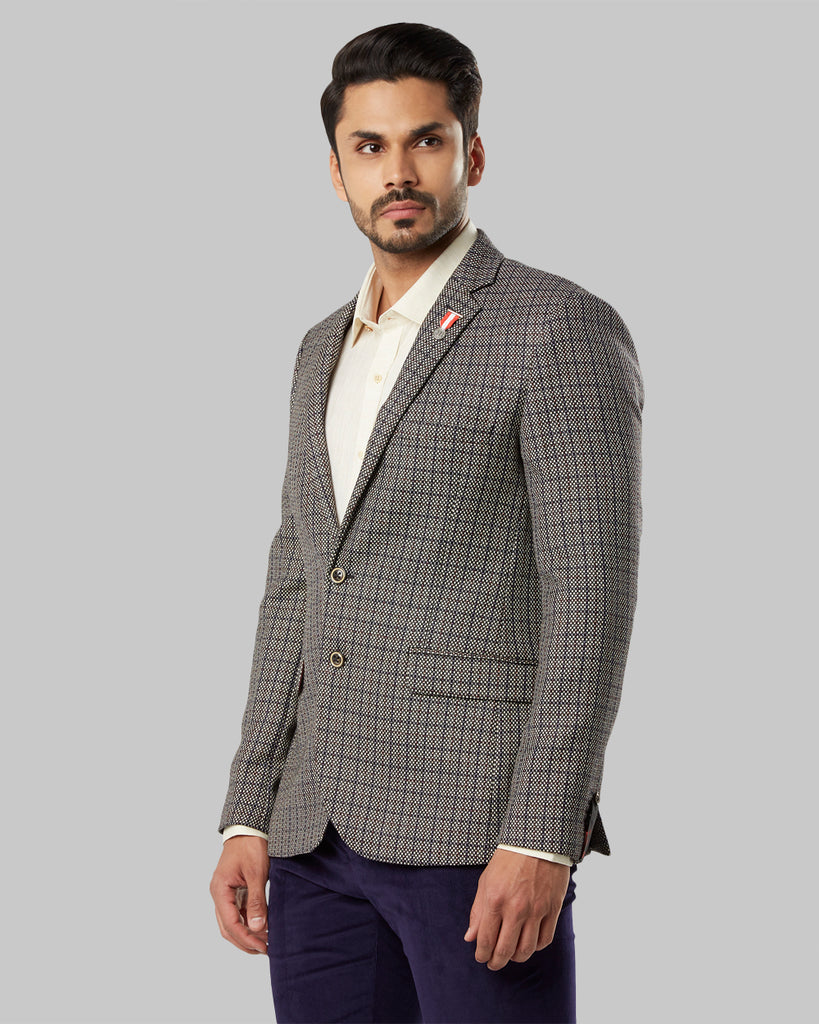 Raymond Medium Grey Slim Fit Blazer