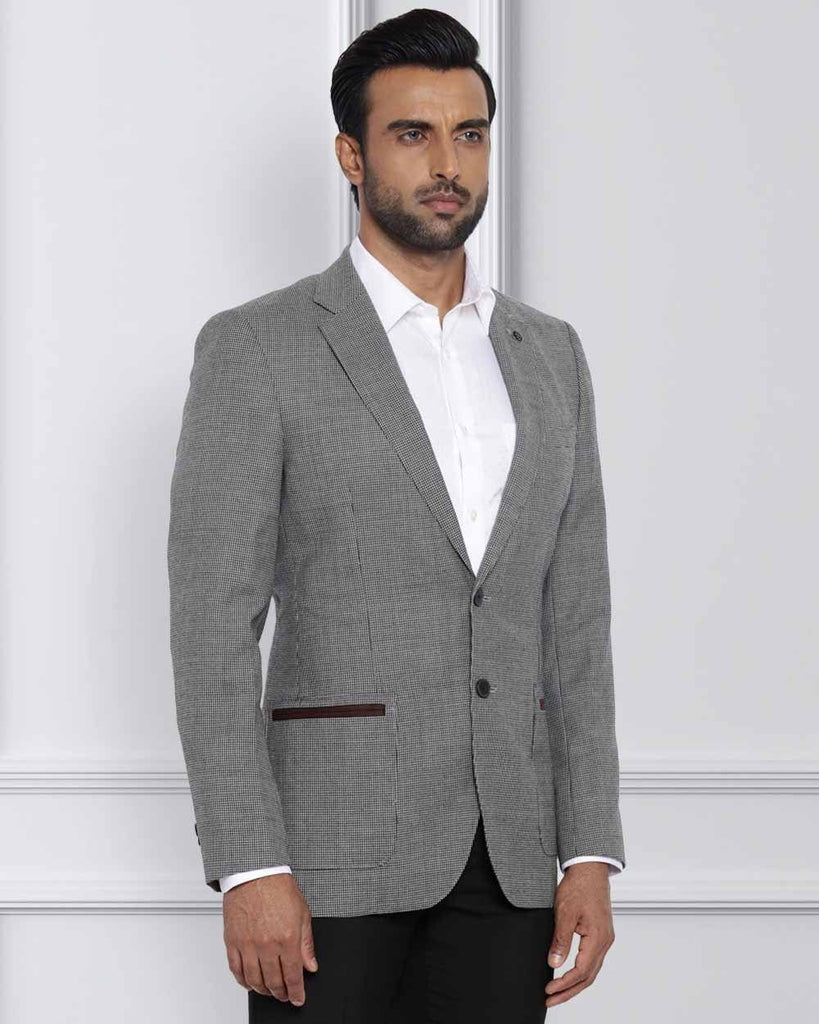 Raymond Dark Grey Contemporary Fit Jacket