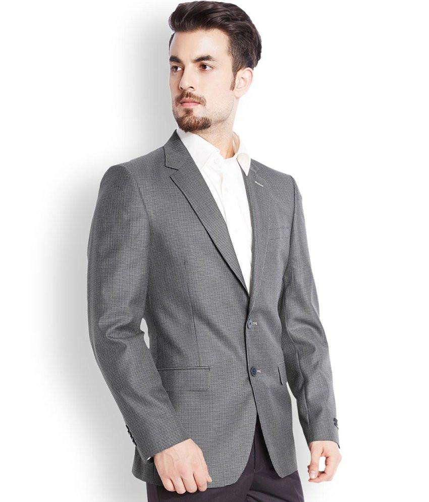 Raymond  Grey Tailored Fit Jacket