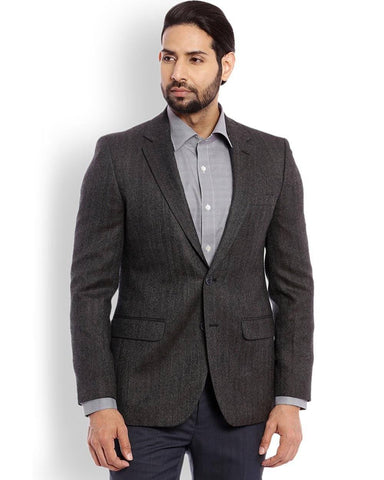Raymond  Grey Contemporary Fit Jacket