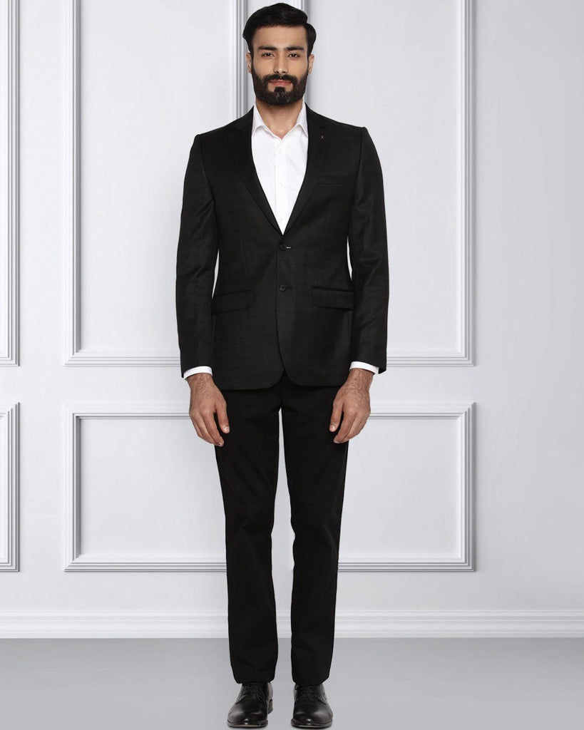 Raymond Black Contemporary Fit Jacket