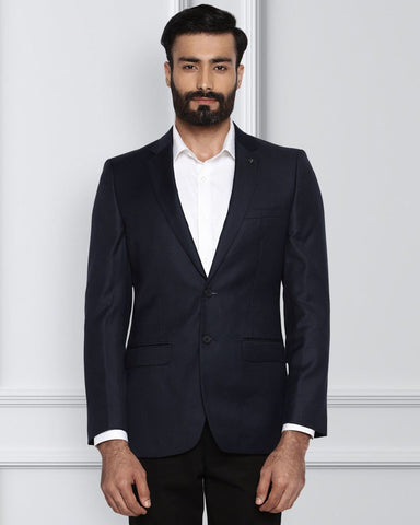 Raymond Navy Blue Contemporary Fit Jacket