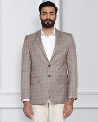 Raymond Medium Brown Contemporary Fit Jacket