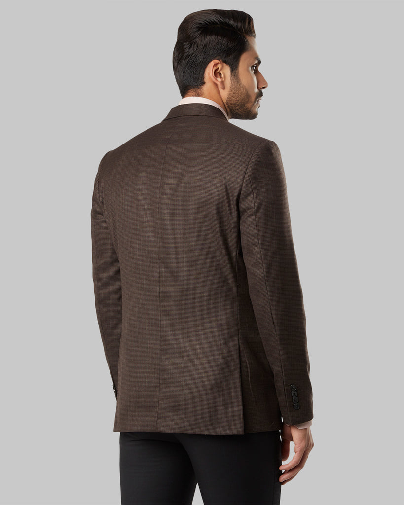 Raymond Medium Brown Regular Fit Blazer