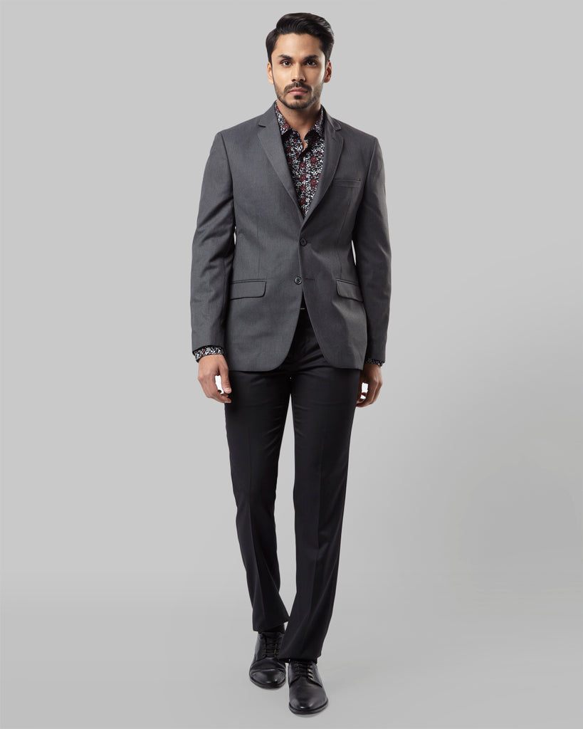 Raymond Grey Regular Fit Blazer