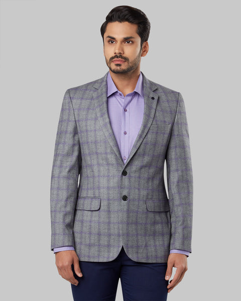 Raymond Medium Grey Regular Fit Blazer