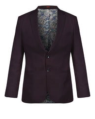 raymond Dark Brown Contemporary Fit Blazer