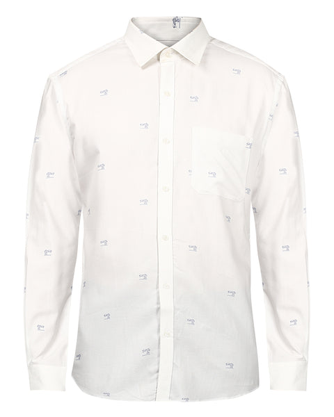Raymond Off-white Contemporary Fit Shirt