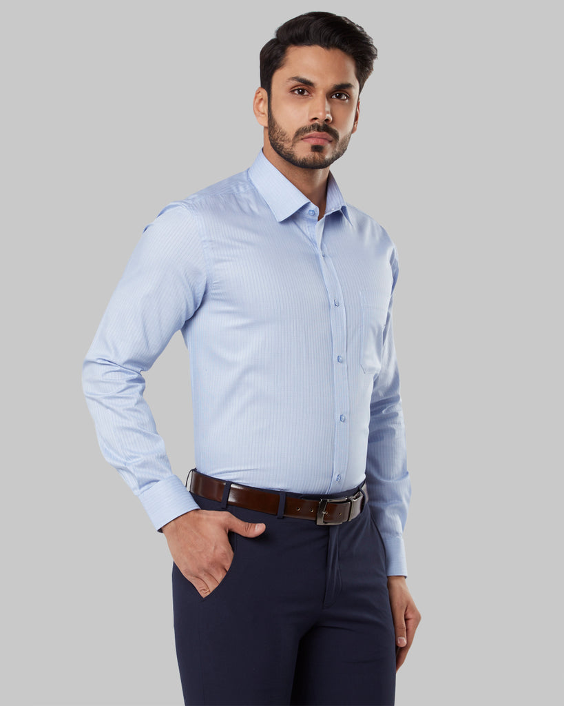 Raymond Medium Blue Regular Fit Shirt