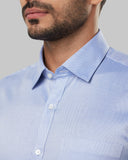 Raymond Blue Regular Fit Shirt
