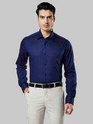 Raymond Dark Blue Regular Fit Shirt