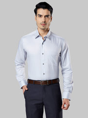 Raymond Light Grey Regular Fit Shirt