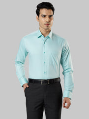Raymond Light Green Regular Fit Shirt