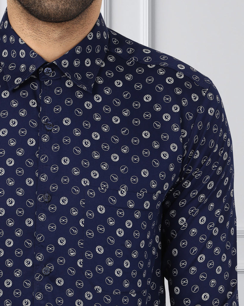 Raymond Dark Blue Slim Fit Shirt