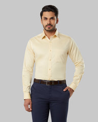 Raymond Medium Yellow Slim Fit Shirt