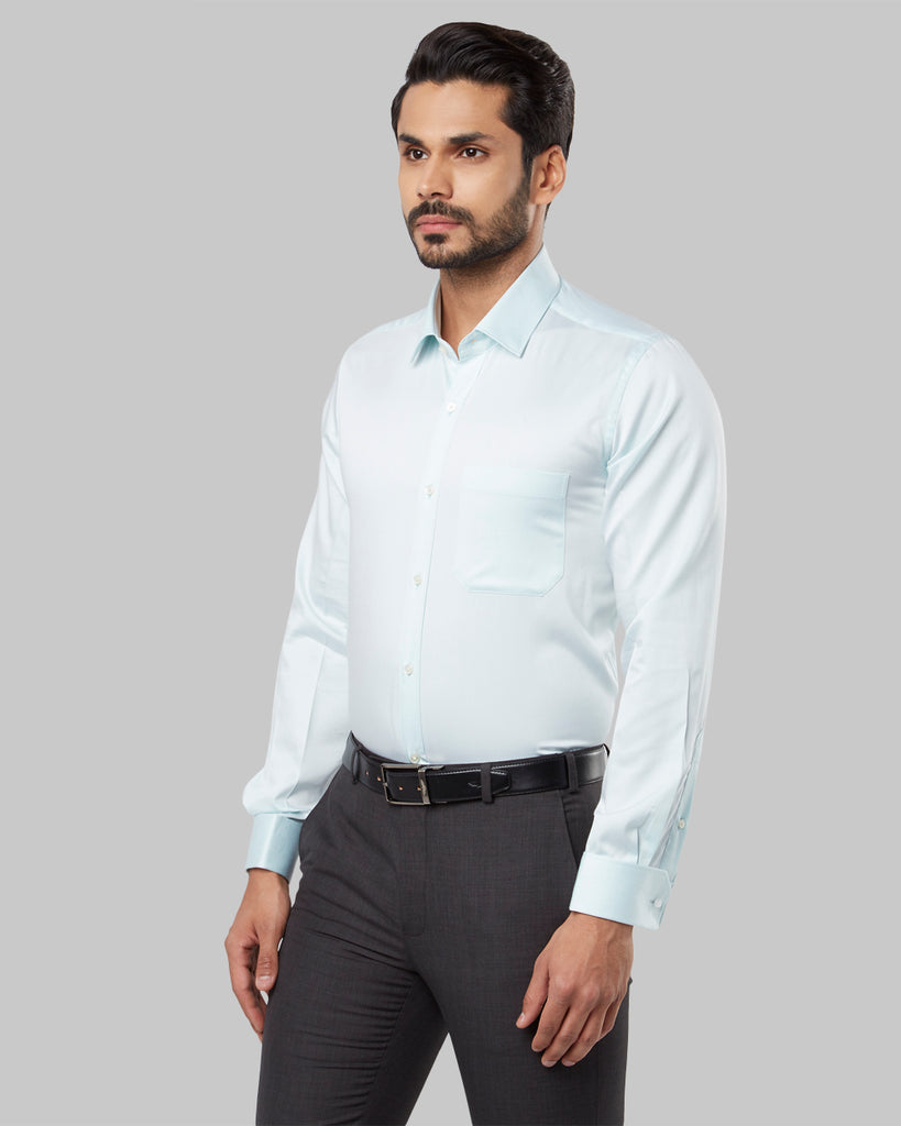 Raymond Medium Green Regular Fit Shirt
