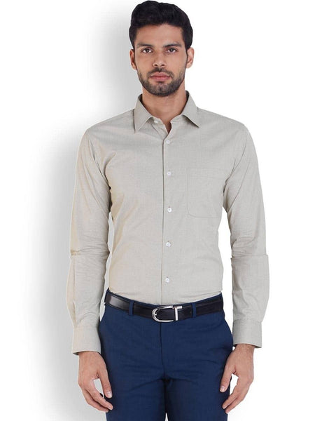 Raymond  Beige Slim Fit Shirt