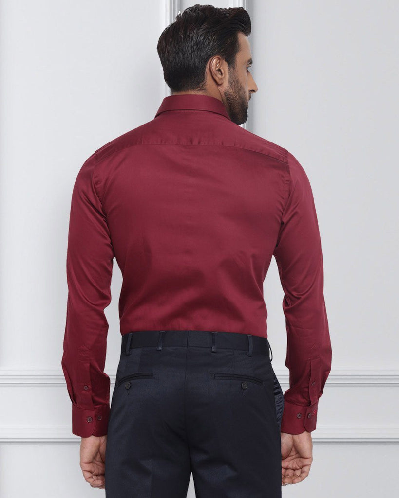 Raymond Dark Maroon Slim Fit Shirt