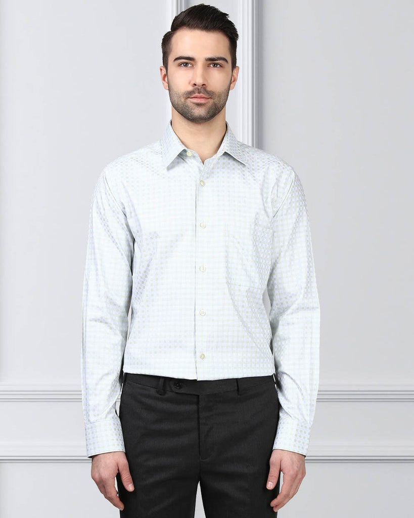 Raymond Light Green Slim Fit Shirt