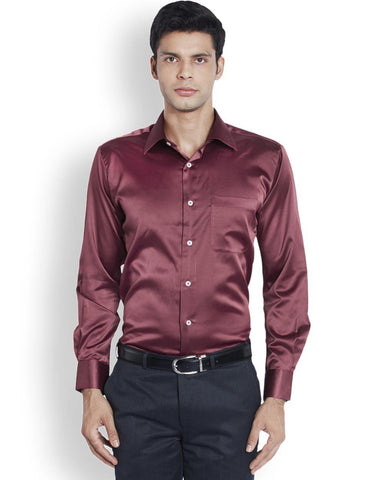 Raymond  Maroon Contemporary Fit Shirt
