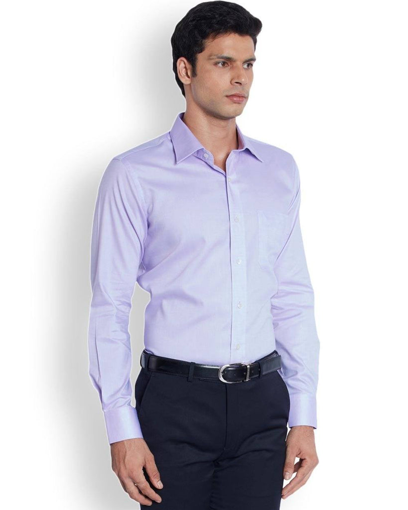 Raymond  Purple Contemporary Fit Shirt