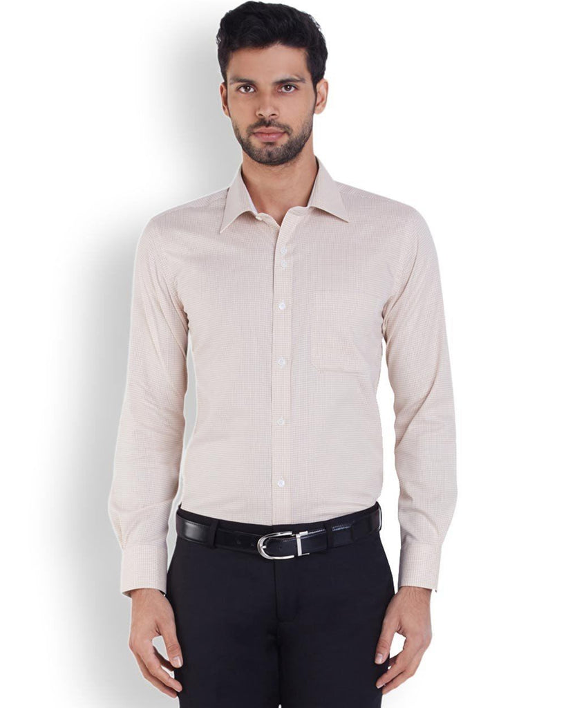 Raymond  Beige Contemporary Fit Shirt