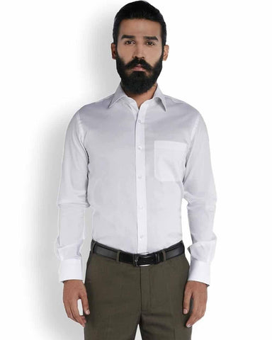 Raymond Silk White Stripe  Shirt