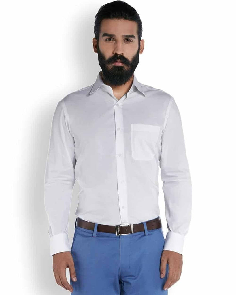 Raymond Silk White Dobby  Shirt