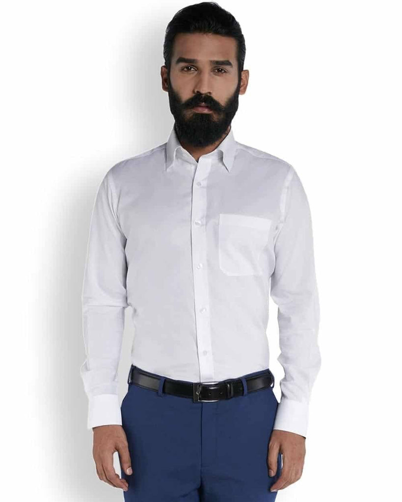 Raymond Silk White Structure  Shirt