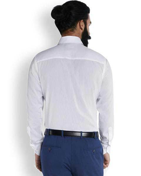 Raymond Arctic White Stripe  Shirt