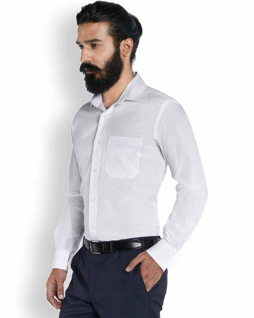 Raymond Eternal White Checks  Shirt