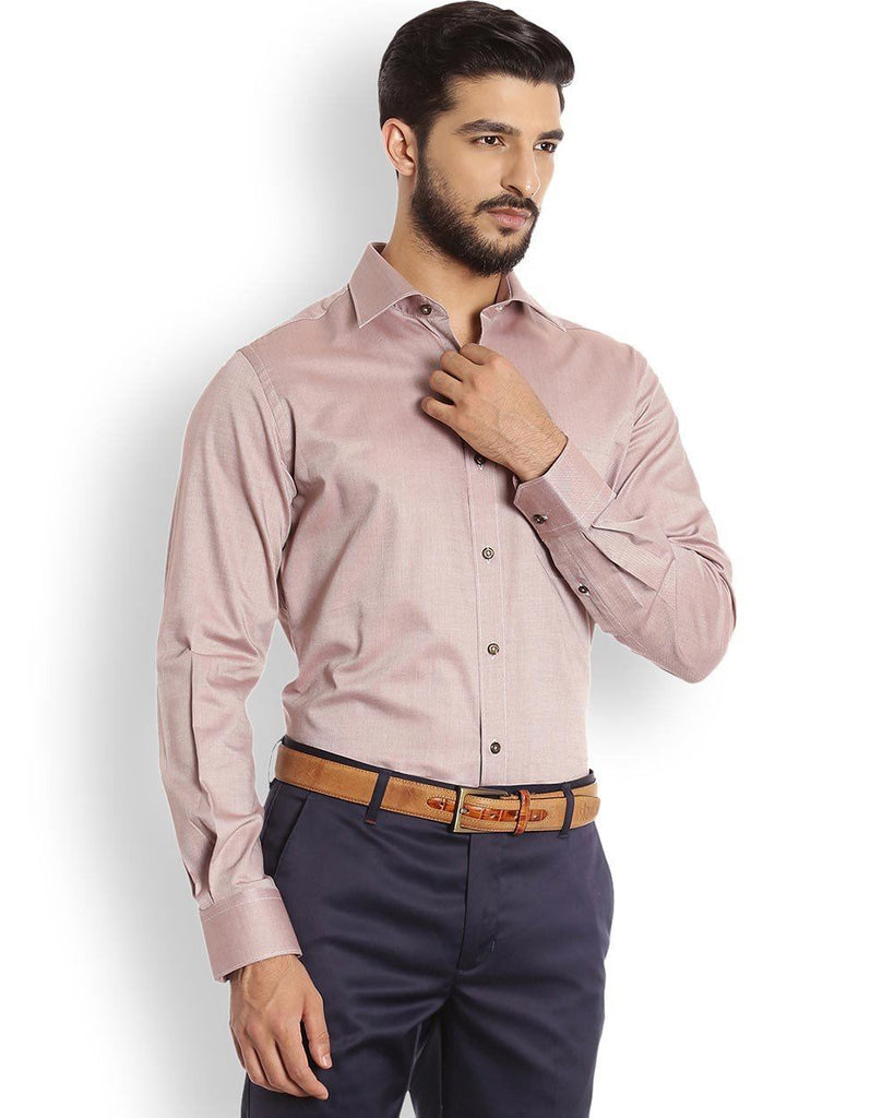 Raymond  Peach Contemporary Fit Shirt